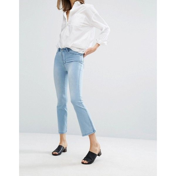 Dr Denim Holly Fitted Crop Flare Jean (80 CAD) ❤ liked on ...