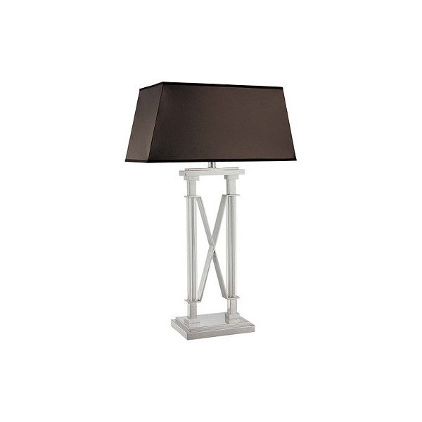Frontgate kingswell metallic table lamp 254 ❤ liked on polyvore featuring home lighting