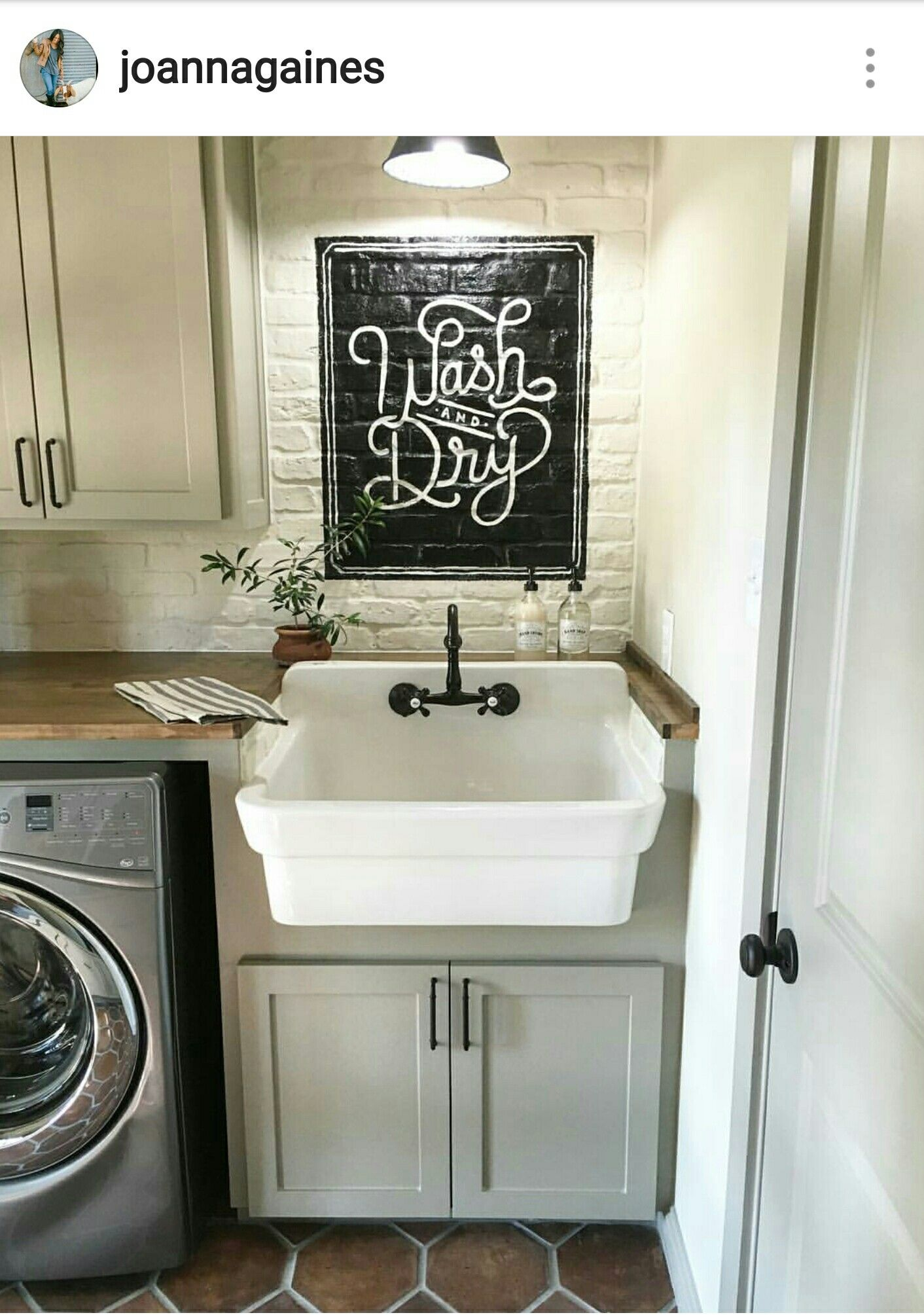 Laundry room by joanna gaines from fixer upper on hgtv for Joanna gaines bathroom designs