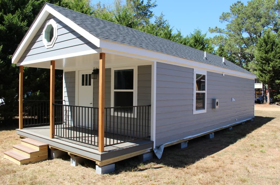 14x40 Modular Tiny Home Cabin For Sale In Due West South Carolina Tiny House Listings Shed To Tiny House Tiny House Cabin Shed House Plans