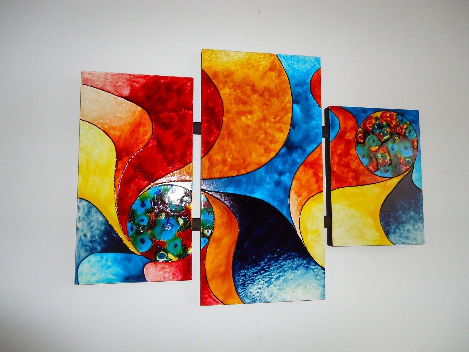 Artes y manualidades cuadros abstractos flor - Pintura de resina ...
