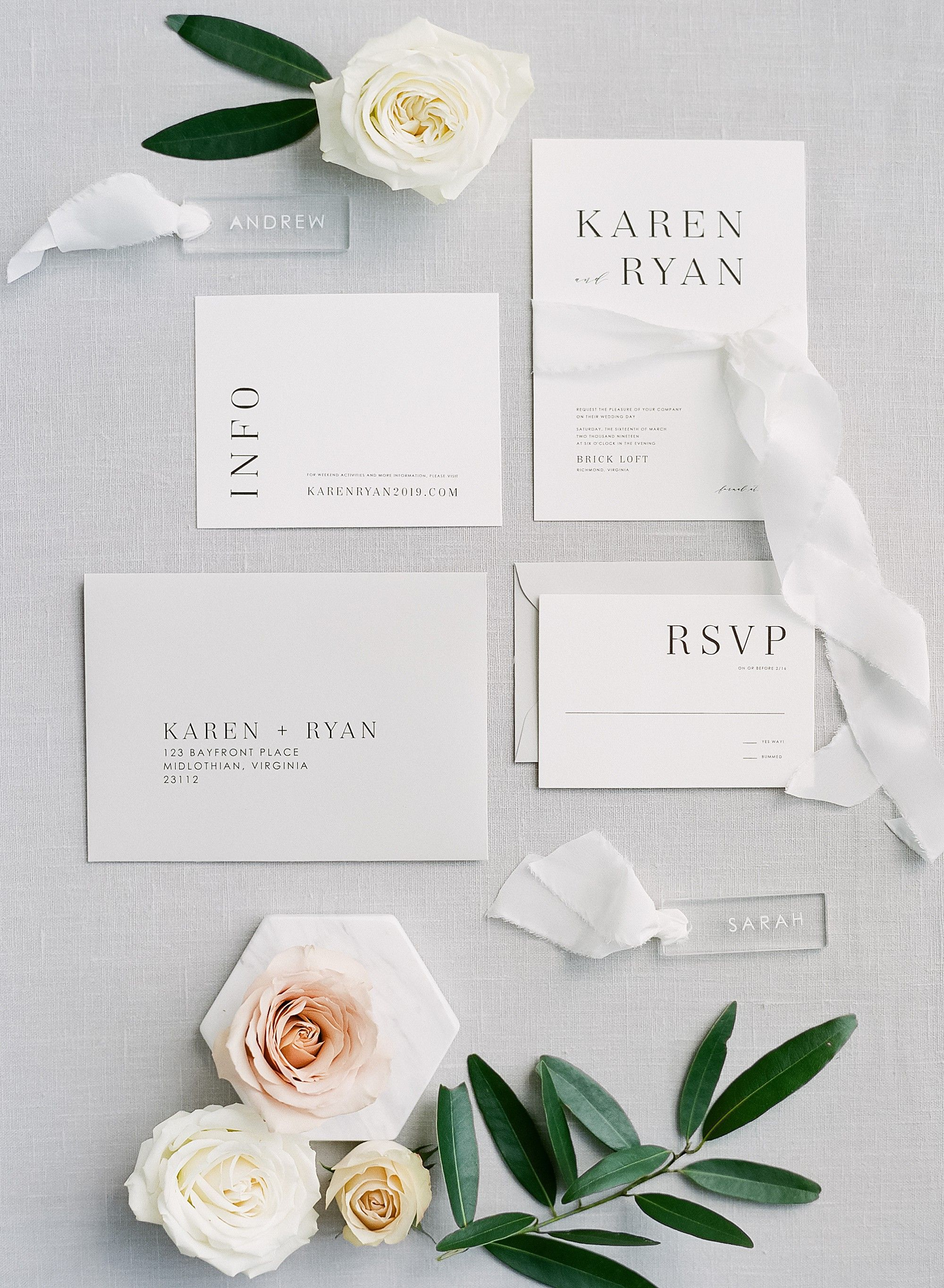 Modern Clean White Wedding Inspiration