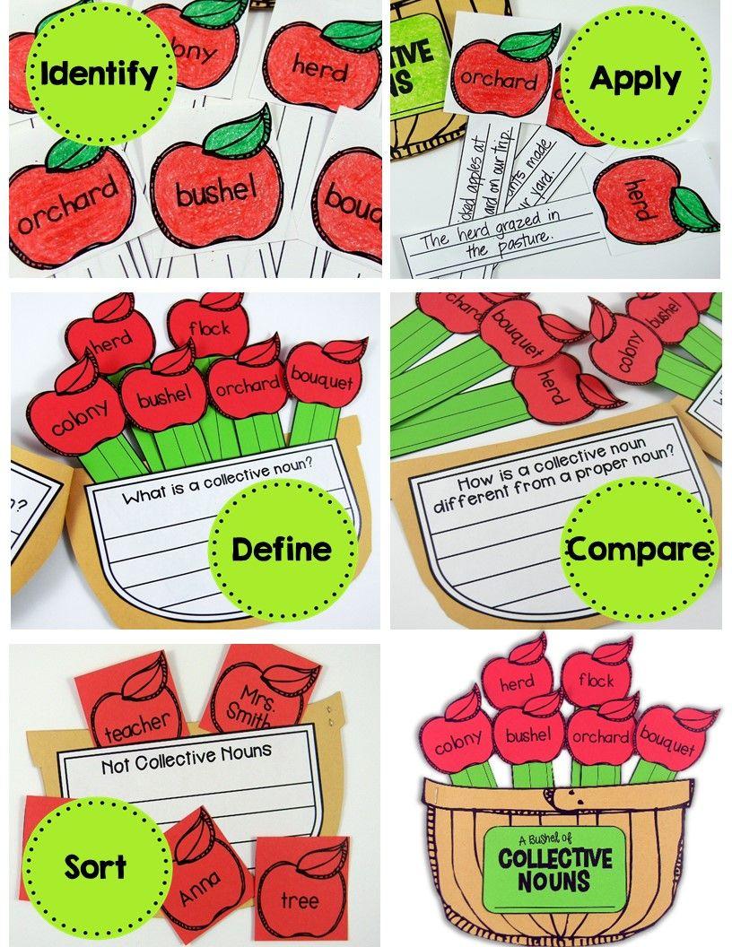 Collective Nouns Grammar Craft (A Bushel of Collective