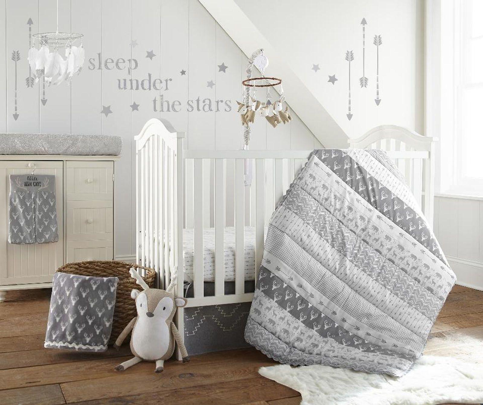 The Levtex Baby Everett 5 Piece Crib Bedding Set Is A