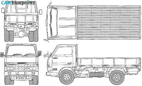 Car blueprints toyota dyna 2t truck blueprint i love toyota vehicle malvernweather Image collections