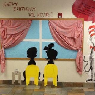 Dr. Seuss bulletin board.