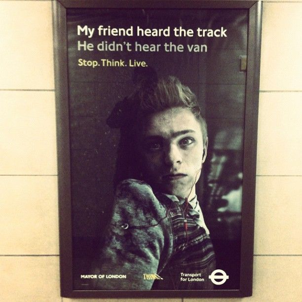 In your face advertising. #underground