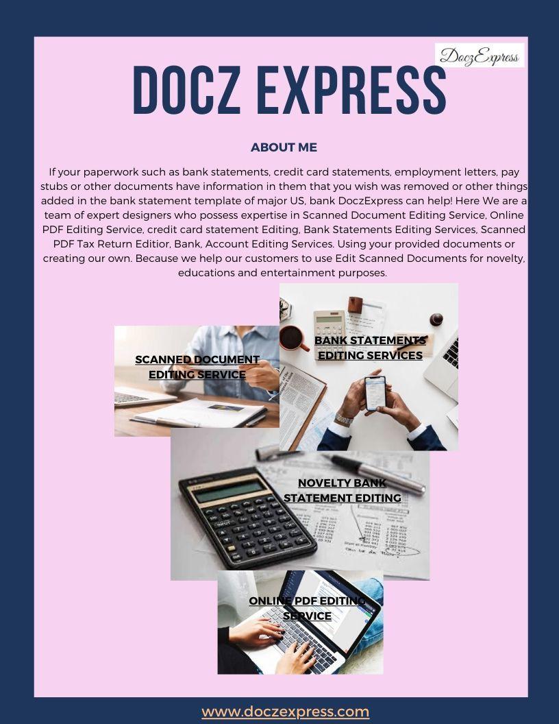 Doczexpress in 2020 credit card statement statement