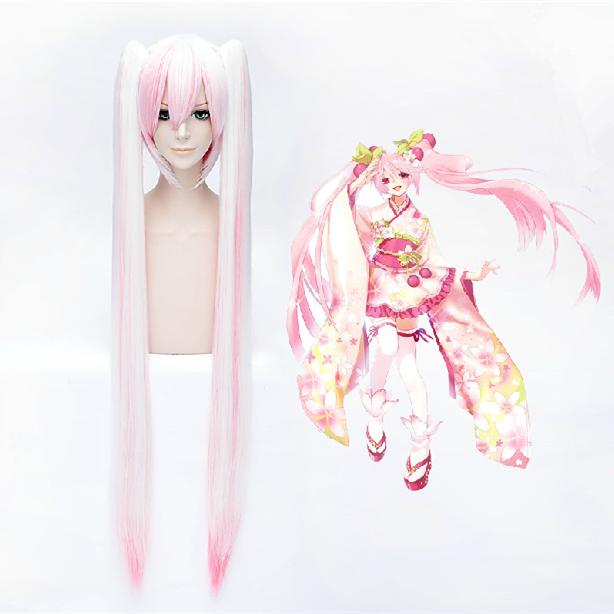 Snow Pink Cosplay Vocaloid Hatsune Miku Sakura Miku Wig 110cm Sp152581 Kawaii Wigs Cosplay Hair Cosplay Anime