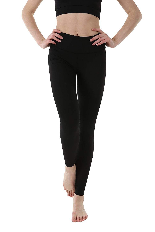 "Women's Power Yoga Pants - 3.5"" High Waist Band Long - Control Shapewear with Streamlined Design Leg..."