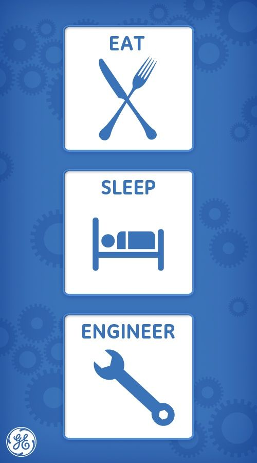 eat # sleep # engineer ! Thank you for the field of