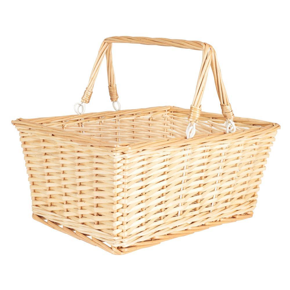 Household essentials 15 in x 7 in willow open market