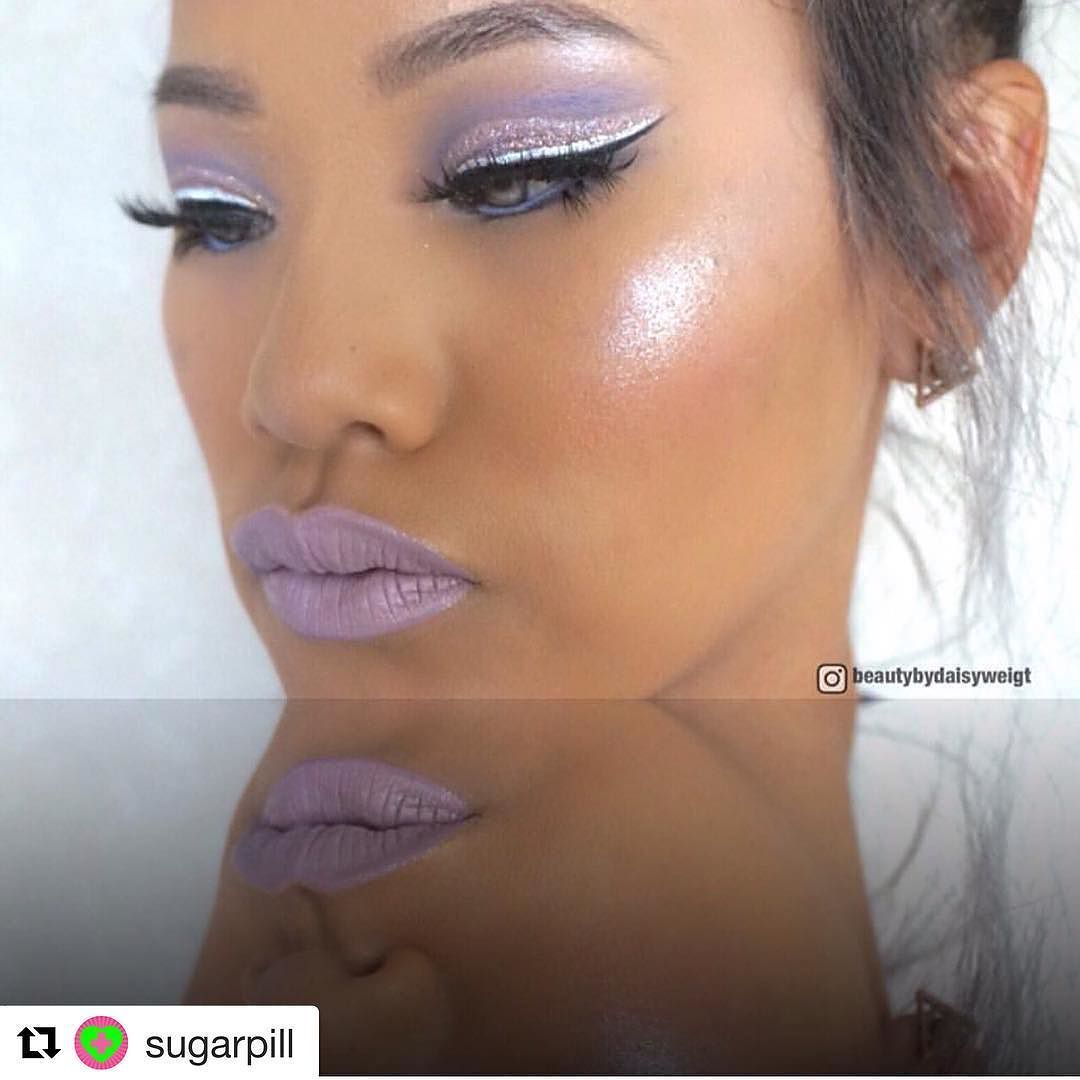 So kimchi is catching my eye slowly but surely. Please tag me in some #browngirlfriendly swatches! #Repost @sugarpill with @repostapp   @beautybydaisyweigt looks otherworldly in #sugarpill Kim Chi liquid lip color!