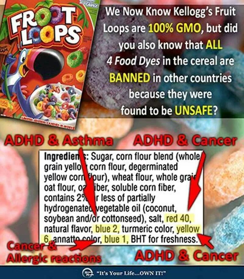 Food dye in cereal, such as Fruit Loops contributes to ADHD and ...