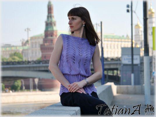 "Шелковая блуза ""Шелковый аметист"" в каталоге Одежда на Uniqhand - ручная работа, авторская работа, шелк, 100% натуральный шелк"