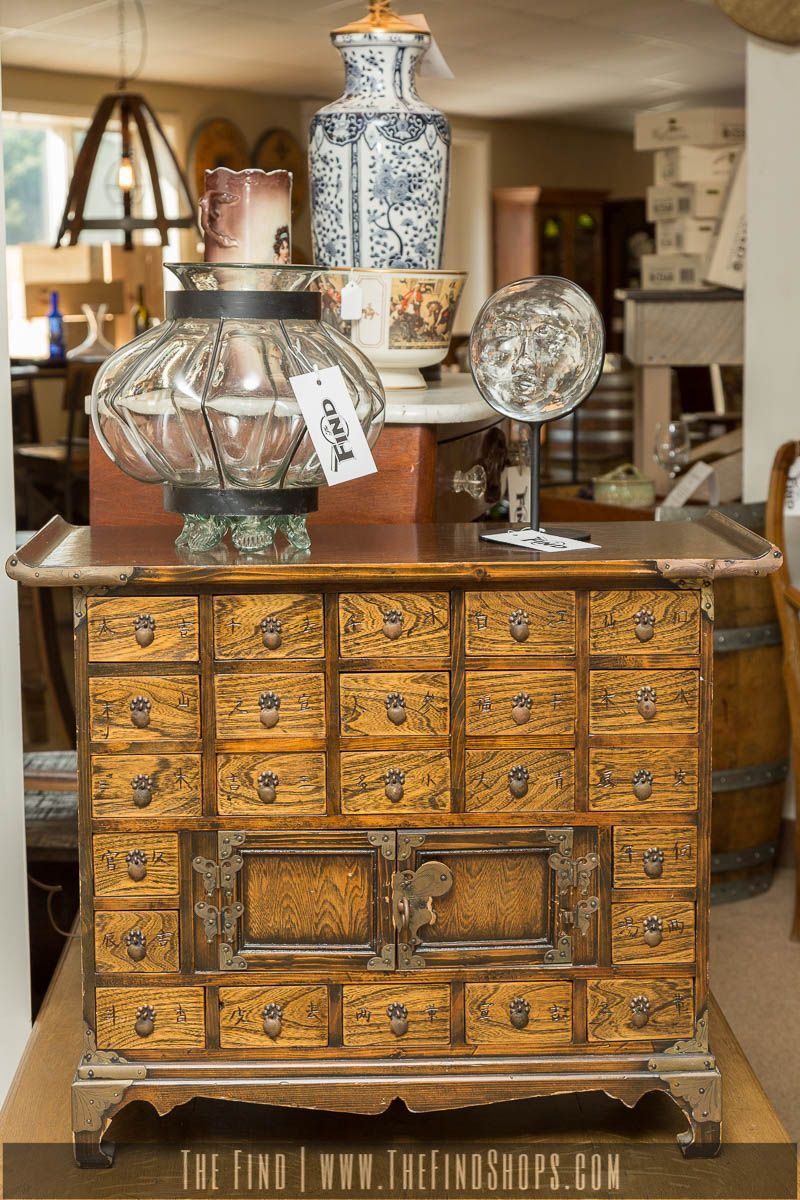 Found at The Find today! Antique Asian Medicine Cabinet is an excellent…