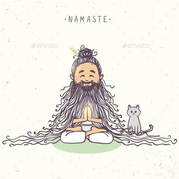 Yoga Character Yoga Cartoon Yoga Illustration Yoga Art