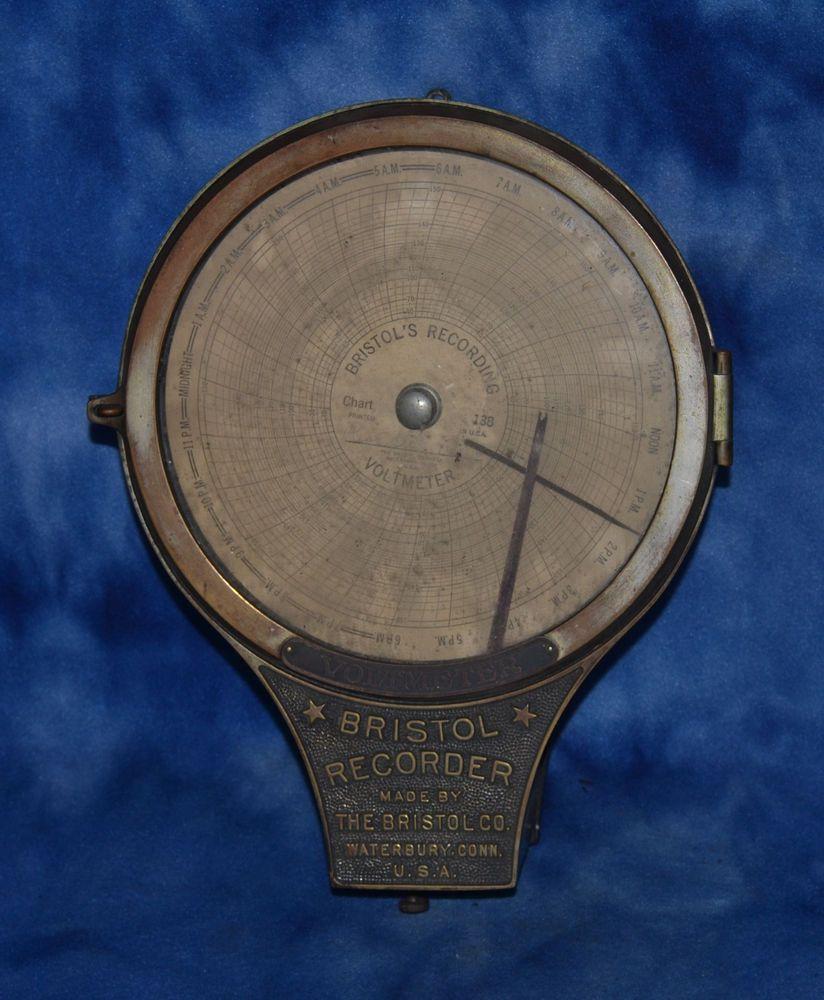 Vintage Bristol Recorder Waterbury, Connecticut Steampunk