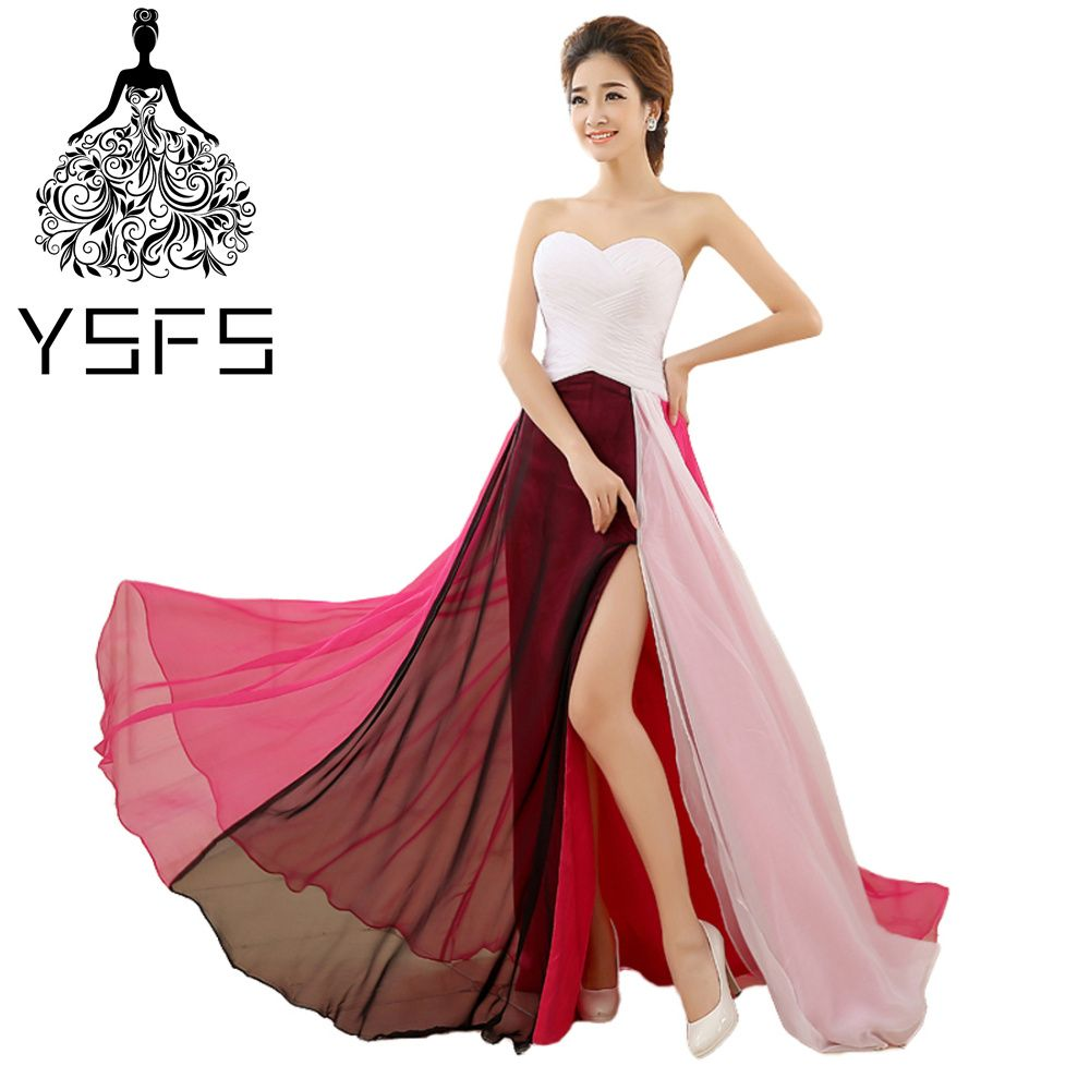 Click to buy ucuc ysfs hot sale simple long evening dresses pleats