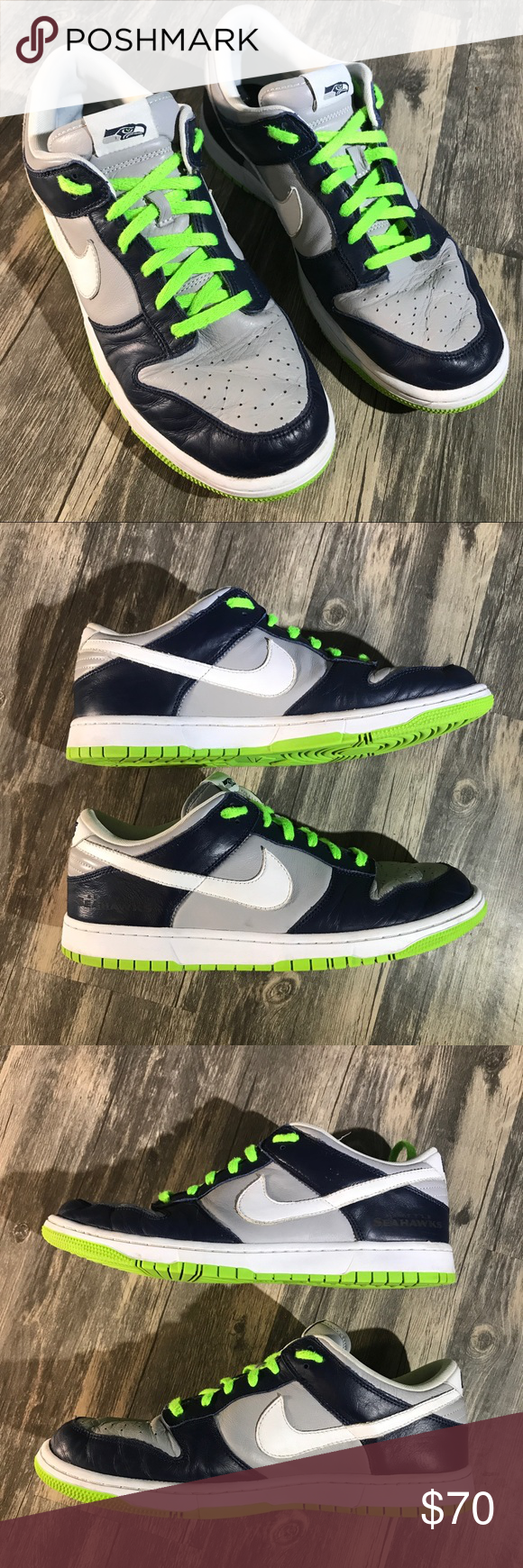 buy online 5a27e 34abd Nike Dunk Low ID Seattle Seahawks sneakers Size 13 Pre-owned (no box) Mens Nike  Dunk Low ID Seattle Seahawks sneakers. Size 13 Model Number 535081 - 901 ...