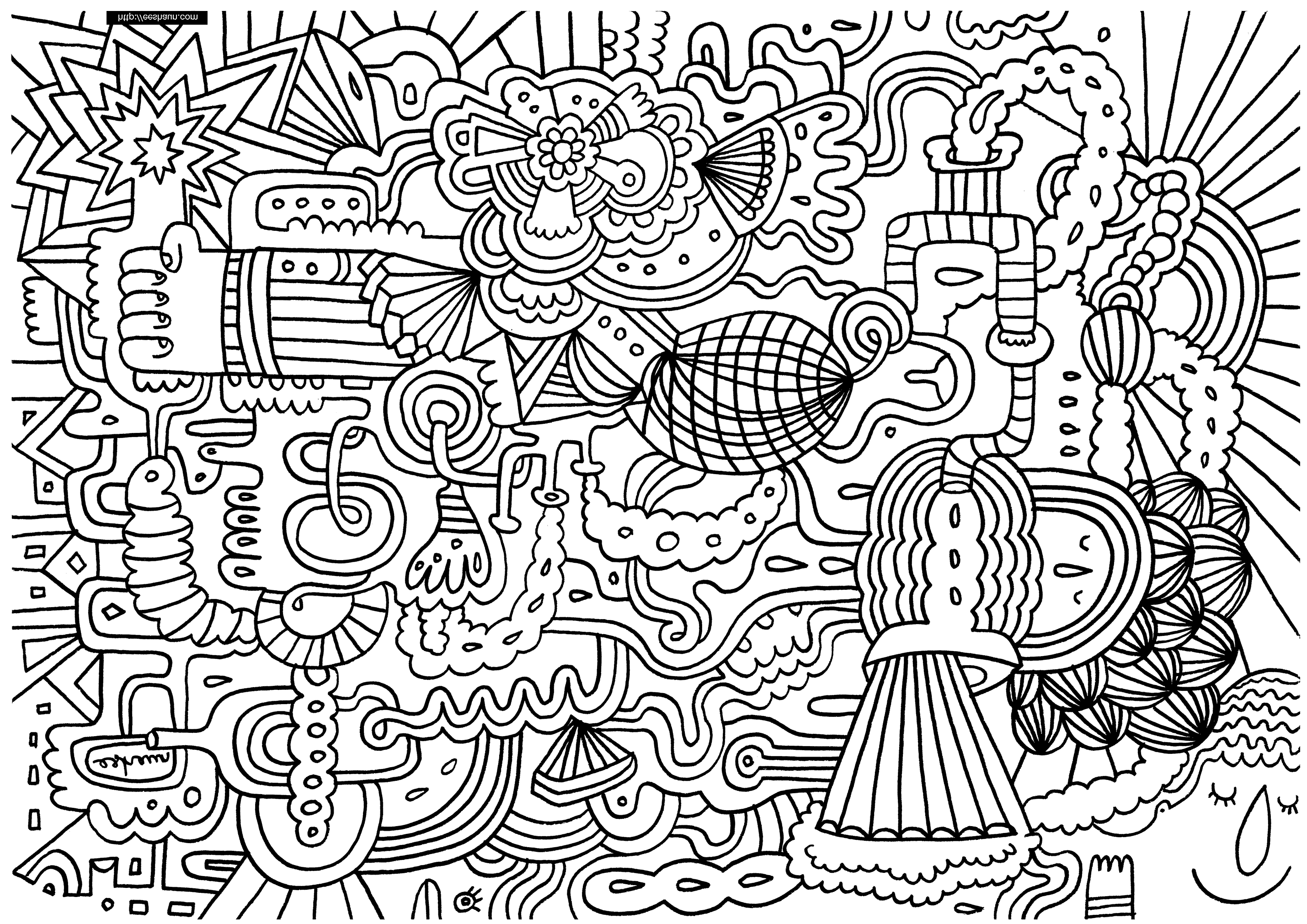Bizarre Et Indescriptible Cute Coloring Pages Free Coloring Pages Abstract Coloring Pages