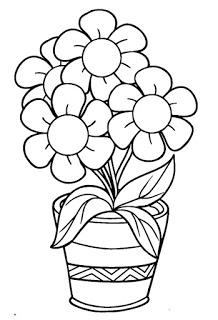 Riscos Graciosos Cute Drawings Riscos De Flores E Plantas Flowers And Plants Printable Flower Coloring Pages Flower Coloring Pages Spring Coloring Pages