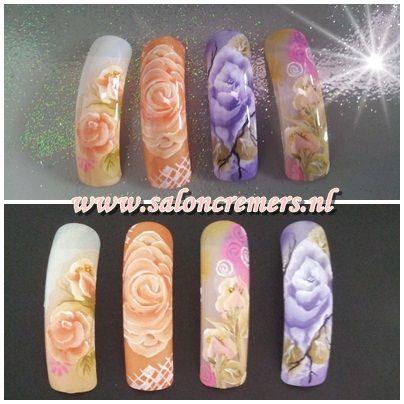one stroke nail art - One Stroke Nail Art Nails Pinterest Nail Inspo, Acrylic Gel