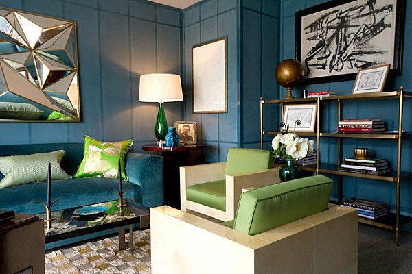 Wandfarben Ideen Wohnzimmer Blau Grn Wohnzimmer  Wohnen