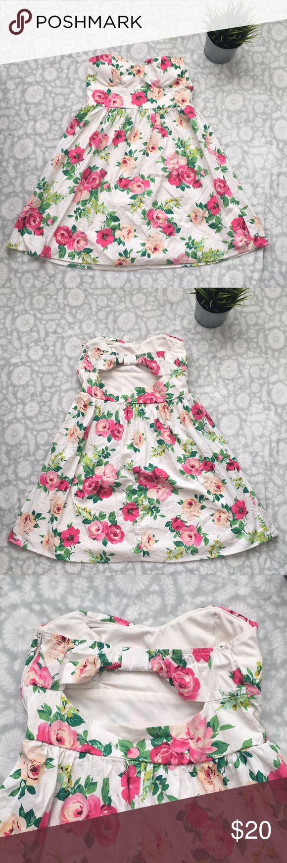 Emerald sundae strapless floral dress in my posh picks