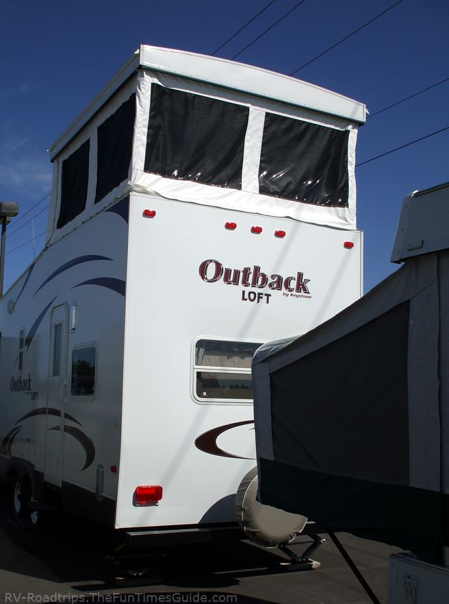 A Review Of Keystone Outback Travel Trailers 2 Story Rv With A Loft The Rving Guide Travel Trailer Keystone Outback Toy Hauler Travel Trailer