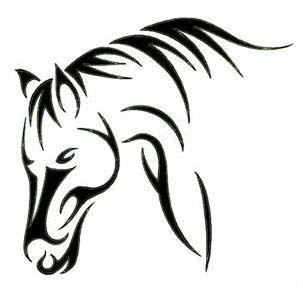 Feminine Horse Animal Tattoos Animal Paintings Acrylic Animals