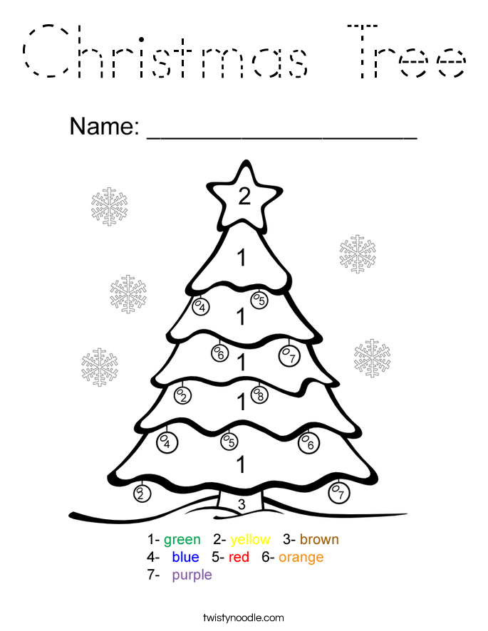 Christmas Tree Coloring Page Christmas Tree Coloring Page Tree Coloring Page Christmas Present Coloring Pages