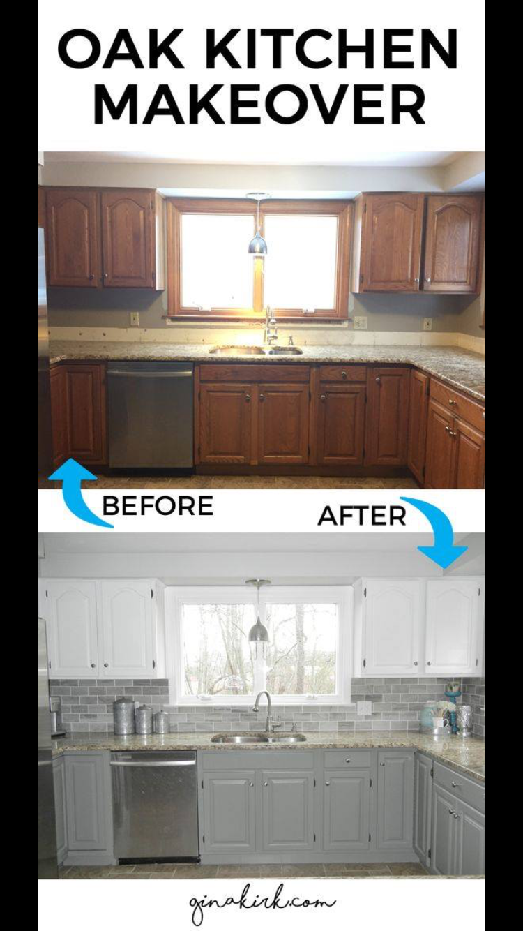 Different color upper and lower cabinets (With images ...