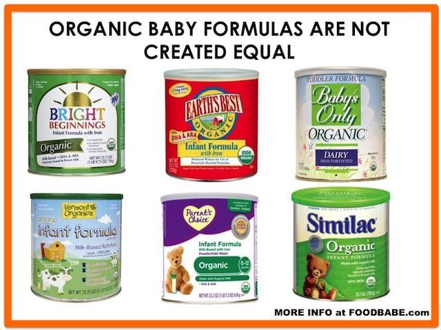 Detailed Analysis Of Major Organic Baby Food Formulas By