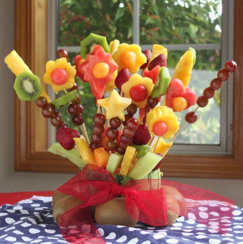 Fruit Bouquet Dailybuzz Moms 9 9 Recipe Edible Fruit Arrangements Edible Arrangements Fruit Arrangements