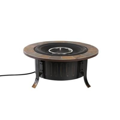 Bond Manufacturing Bolen 36 In Round Propane Fire Pit 66637 At The Home Depot Stainless Steel Table Gas Fire Table Fire Table