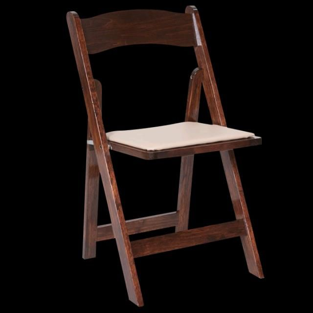 Where To Rent Chair Dark Wood Padded Folding Chair In Haslett