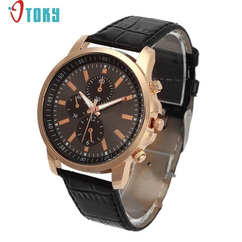 39b405a70f2 Excellent Quality OTOKY Luxury Quartz Watches Men s Fashion Geneva Quartz  Clock Leather Strap Wristwatches Relogio Masculino ( 2.04)