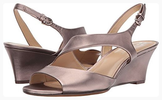 0611eec0105a6 Naturalizer Women's Tonya Wedge Sandal,Bronze Alloy Leather,US 9 M ...