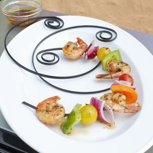 Curved Shish-Kabob Skewers - Fit On Your Plate!