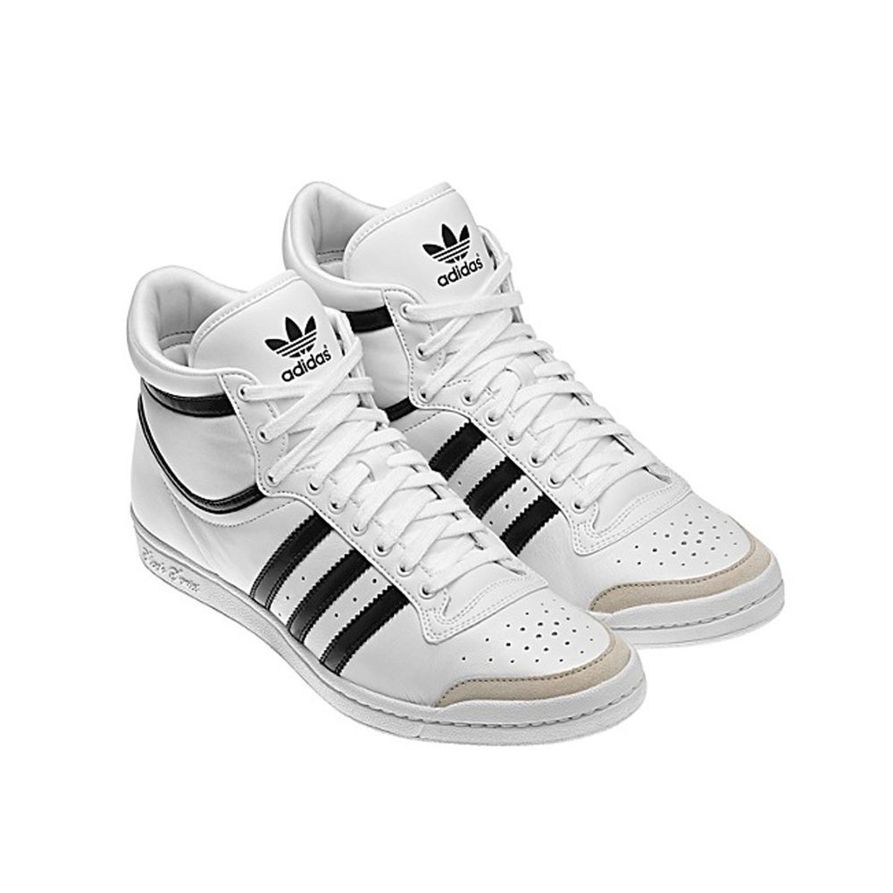 Womens Adidas TOP TEN HI SLEEK hi top trainers white G44643