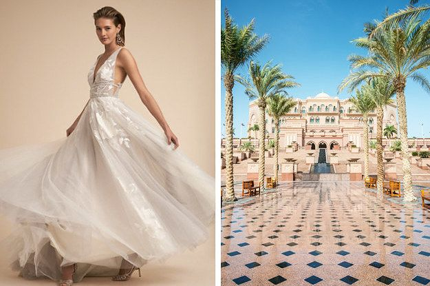 Design Your Entire Wedding Look And We Ll Tell You Where You Should Go For Your Honeymoon Wedding Dress Quiz Wedding Looks Wedding Quiz