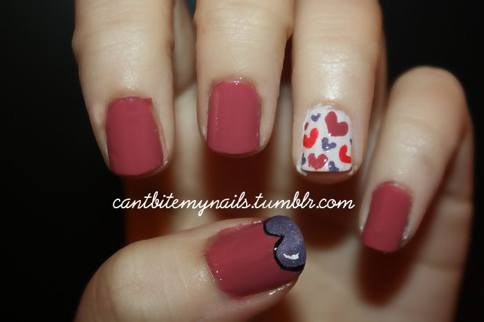 Hearts everywhere nails | Can\'t bite my nails | Pinterest | Create