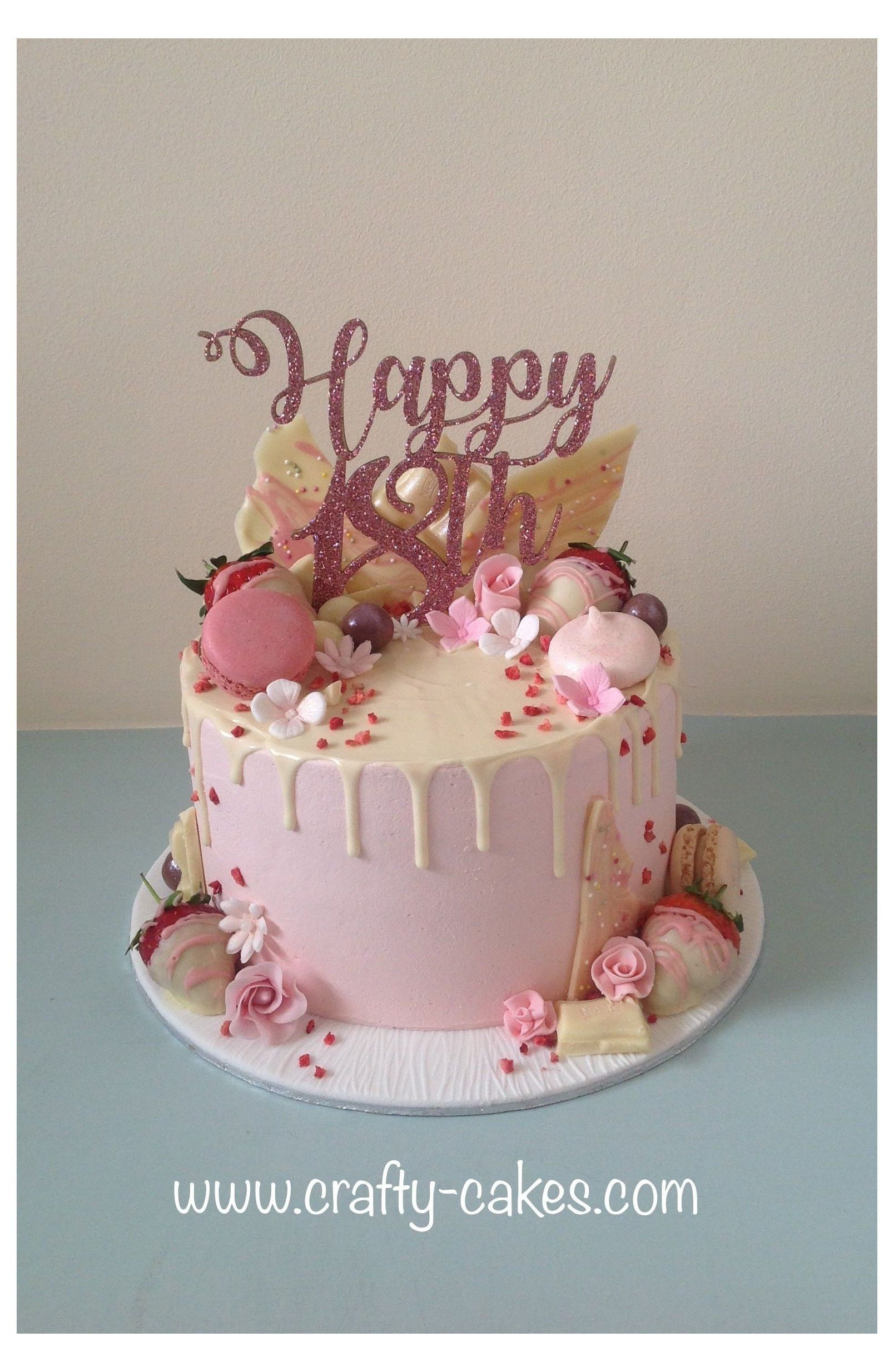 Female 18th Birthday Cake : female, birthday, Crafty, Cakes, #18th, #birthday, #cake, #girls, Elegant, Birthday, Cakes,, Sweet, Cake,, Girls
