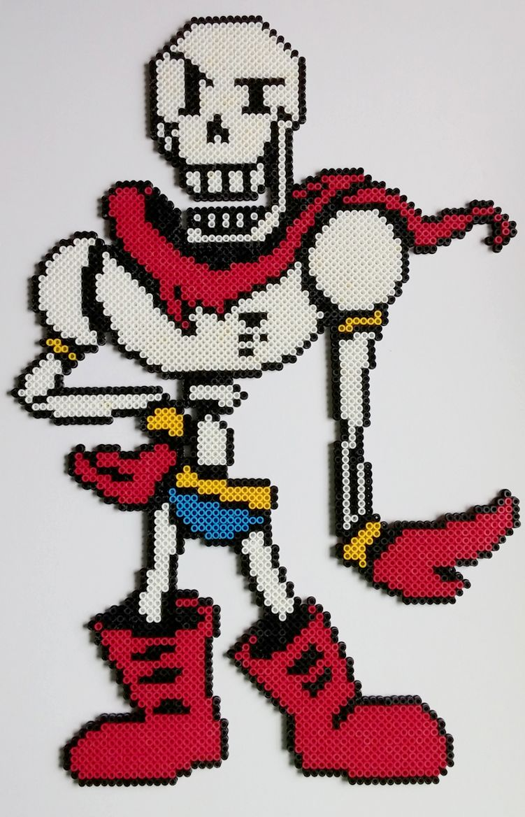 Papyrus Undertale Perler Beads by kamikazekeeg on DeviantArt