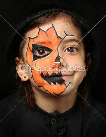 halloween schmink pompoen - google zoeken | halloween | pinterest
