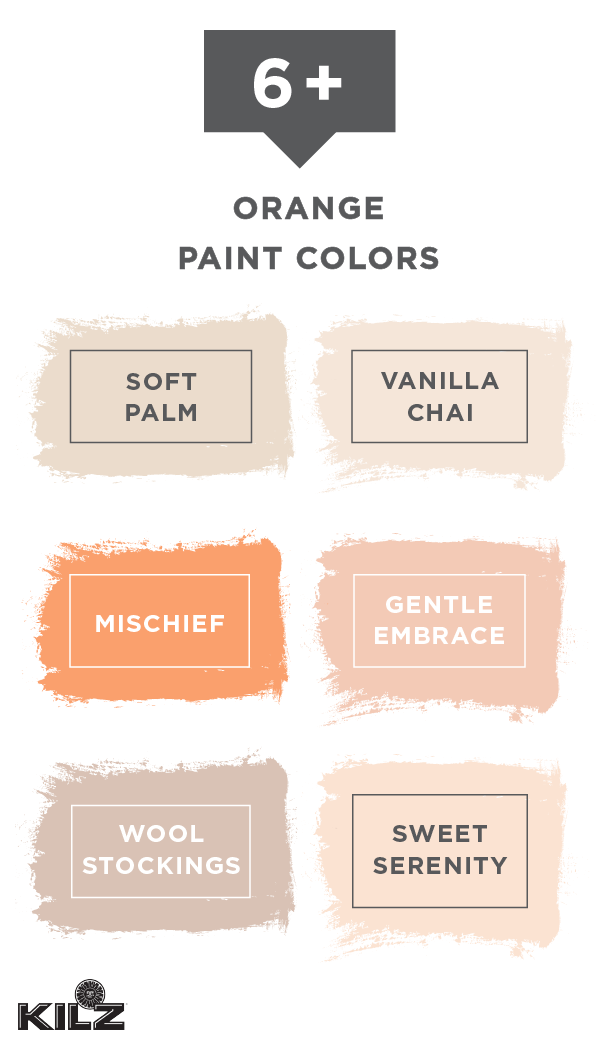 Let The Fun Hues Of Fall Inspire You With This Collection Of Orange Paint Colors From Kilz Complete Orange Paint Colors Walmart Paint Colors Peach Paint Colors