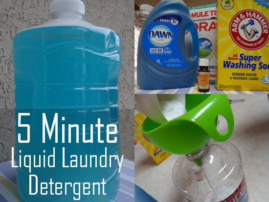 5 Minute Liquid Laundry Detergent Recipe Quick Easy And Cheap