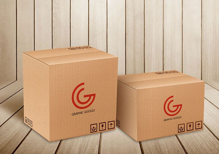 Download Free Psd Carton Delivery Packaging Box Mockup Box Mockup Packaging Mockup Mockup Packaging Box