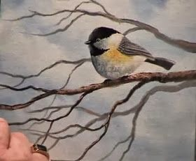 Chickadee Painting Techniques